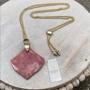 Kendra Scott Aislinn Necklace - Pink Rhodonite
